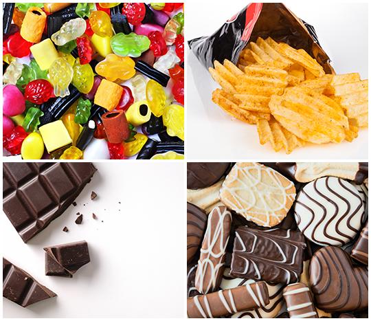 Süßwaren und Snacks
